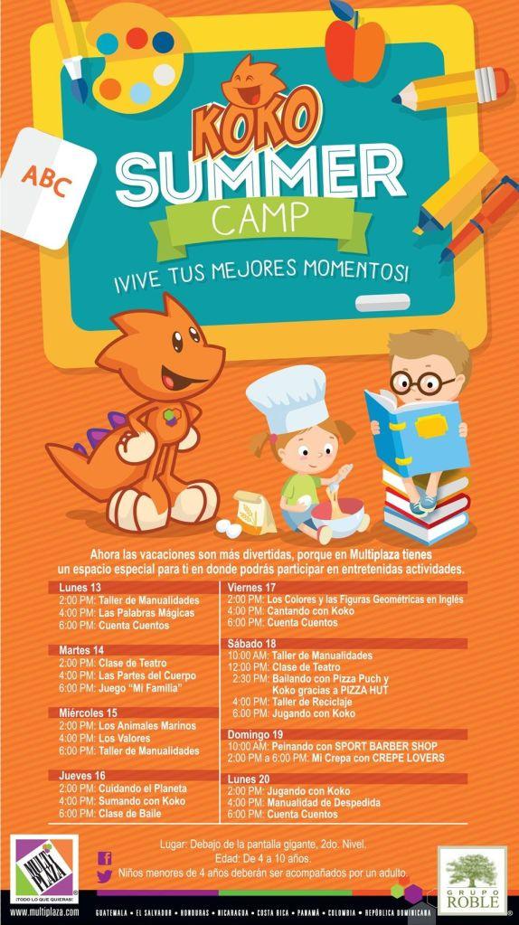 MULTIPLAZA te invita al SUMMER CAMP de KOKO