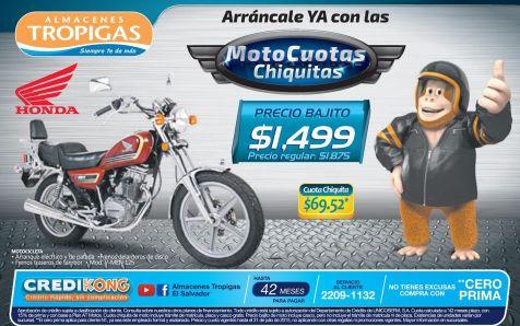 Moto cuotas bajtas gracias a ALMACENES TROPIGAS - 29jul15