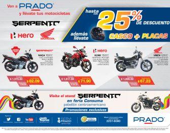 PRADO ofertas y promociones en motos serpento hero
