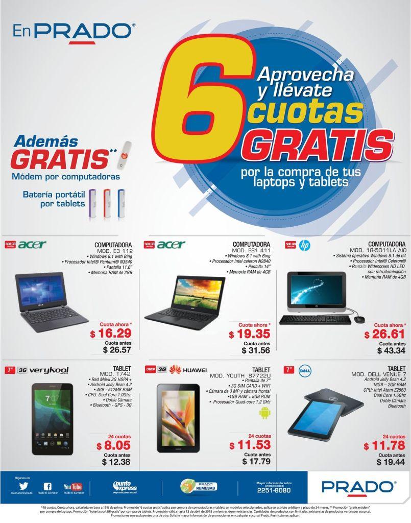 PRADO promo Llevate tus productos tecnologicos con 6 cuotas y premios GRATIS