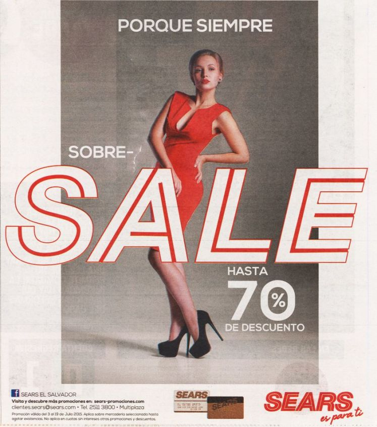 SEARS sobre SALE hasta 70 OFF discount for women - 03jul15