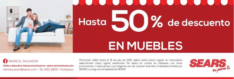 SEARS te invita a disfrutar su 50 off en muebles - 24jul15
