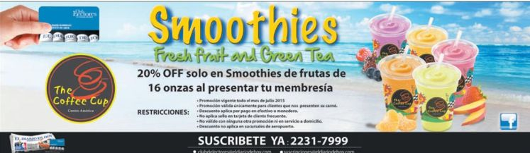 Smoothies de frutas tropicales con DESCUENTOS