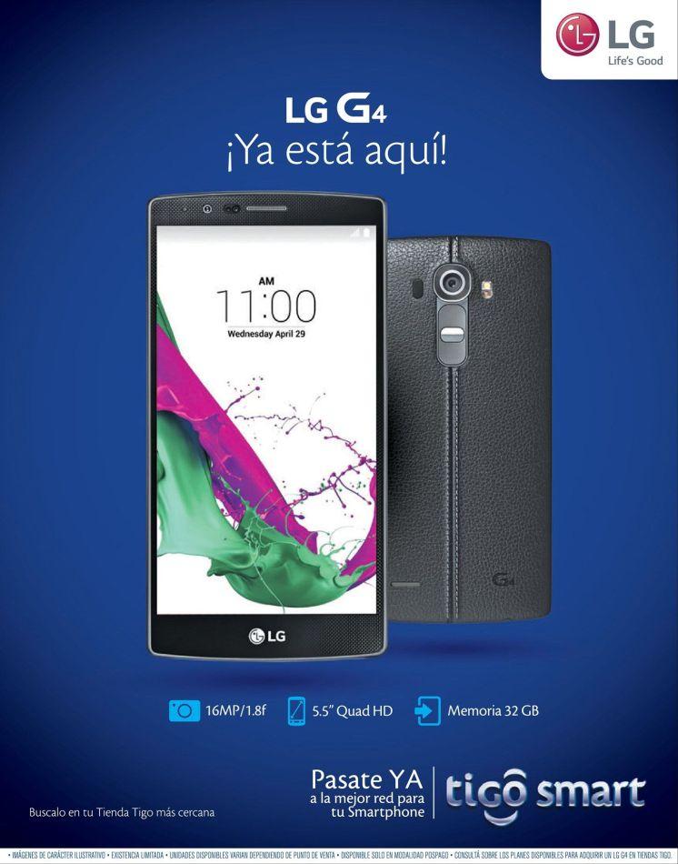 TIGO smartphone super avanzados y modernos LG G4