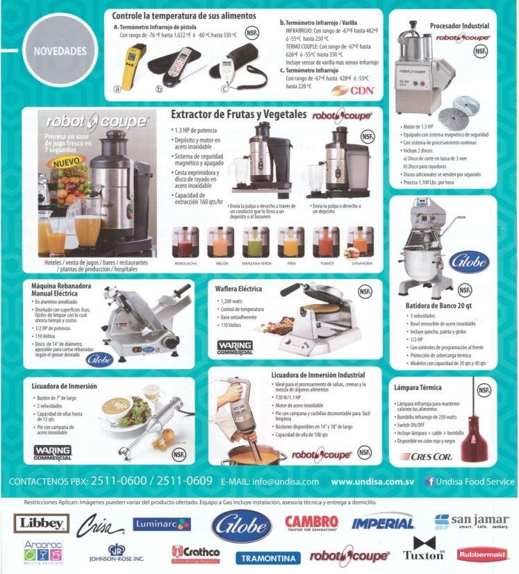 UNSISA distribuidores de equipos de cocina y accesorios para restaurantes