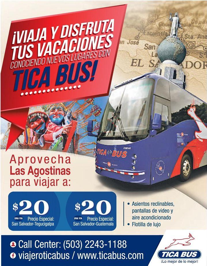 Viaja y conocer america central con TICA BUS vacaciones