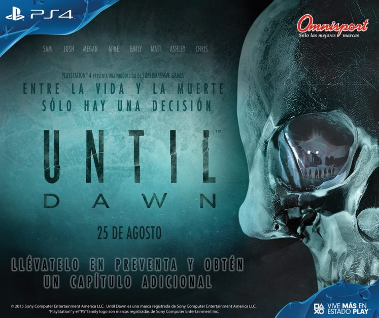 preventa en omnisport video game UNTIL dawn power by PS4