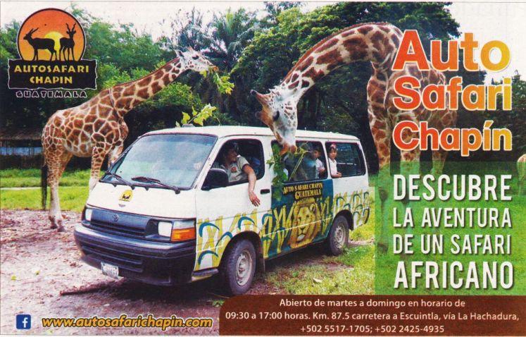 trip SAFARI africano en GUATEMALA auto safari chapin