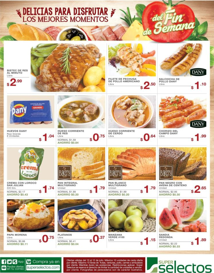 weekend deals to SUPER MARKETS - 10jul15