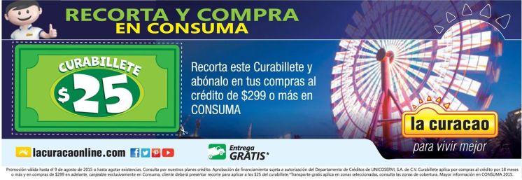 CURA BILLETE la curacao cupon valido en CONSUMA 2015