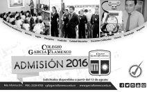 Colegio Garcia Flamenco ADMISION 2016