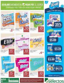 Descuento superselectos en productos de papel higienico