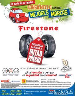 FIRESTONE tires promocion segunda a mitad de precio