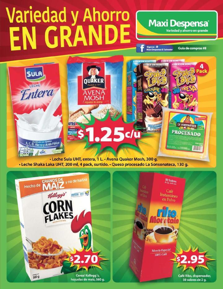Guia de compras 8 MAXI Despensa sv - agosto 2015