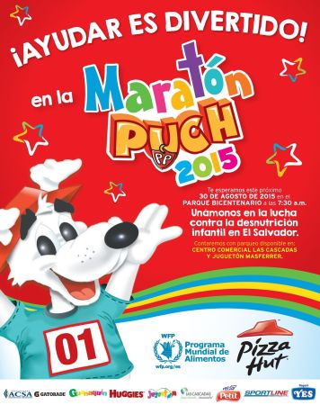 Maraton PIZZA PUCH 2015 apya al programa mundial de alimentos