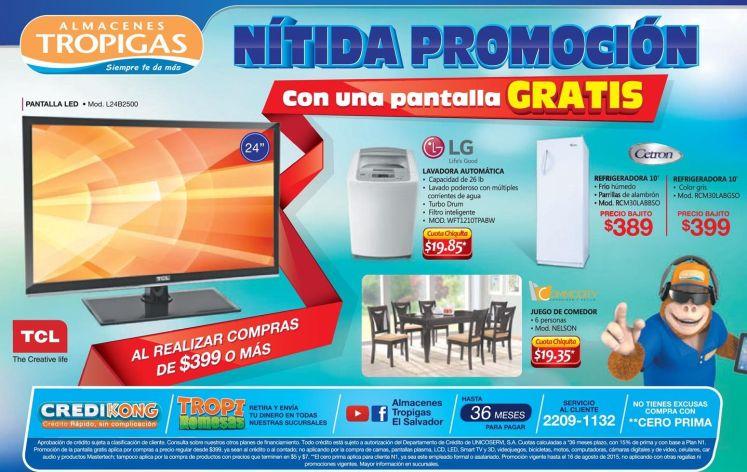 NITIDA promocion con pantalla gratis por tus compras TROPIGAS