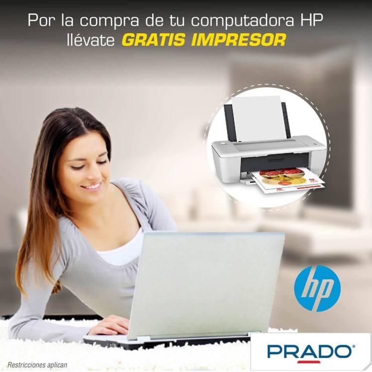 PRADO LLeva tu impresor gratis por tu compra de LAPTOP HP