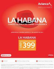 Promocion boleto aereo LA HABANA cuba 399 dolares