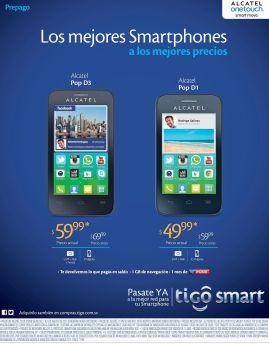Promociones en celulares ALCATEL gracias a TIGO elsalvador - 07ago15