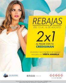 REBAJAS en almacenes SIMAN promociones 2x1 con tu credisiman - 13ago15