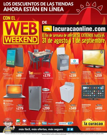 TODAY online discount LA CURACAO web weekend - 31ago15