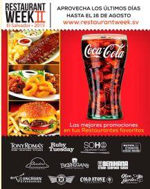 The best promotions RESTAURANT WEEK II el salvador 2015