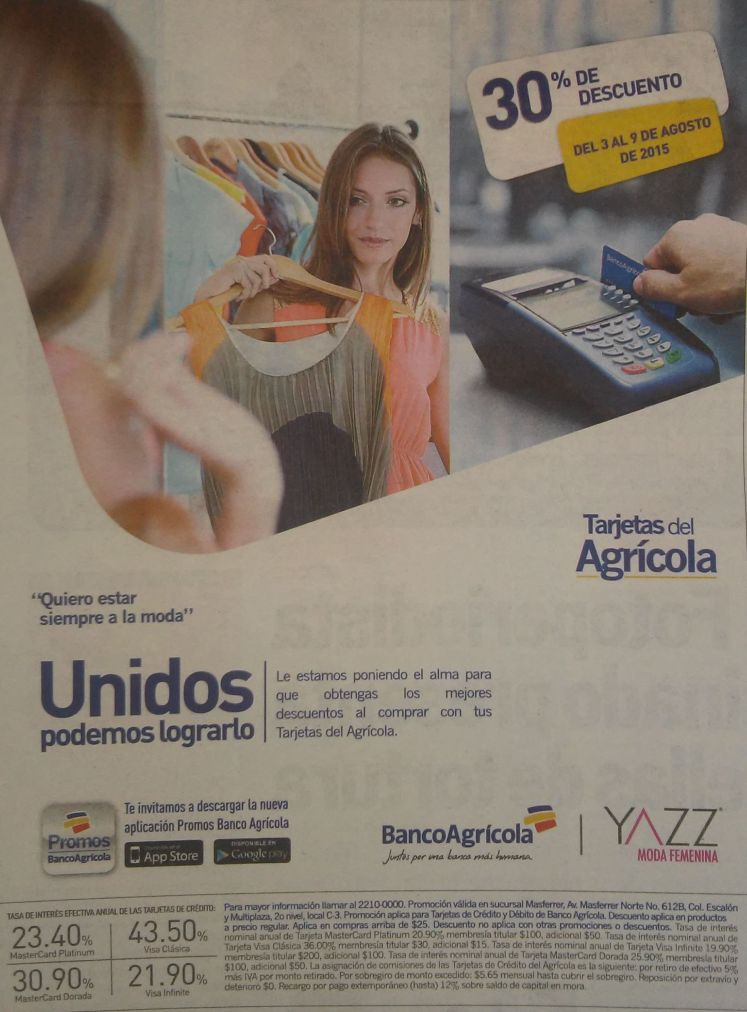 fashon store YAZZ  discounts banco agricola