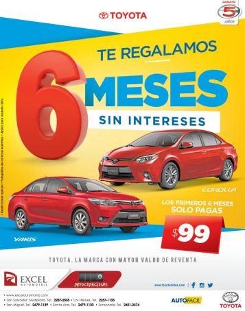 AUTO nuevo TOYOTA paga 99 dolares cuotas sin intereses