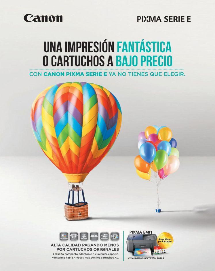 Alta calidad de impresion a BAJO PRECIO solo con CANON Pixma Serie E printer