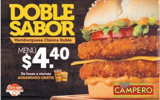 DOBLE SABOR de hamburguesas pollo campero