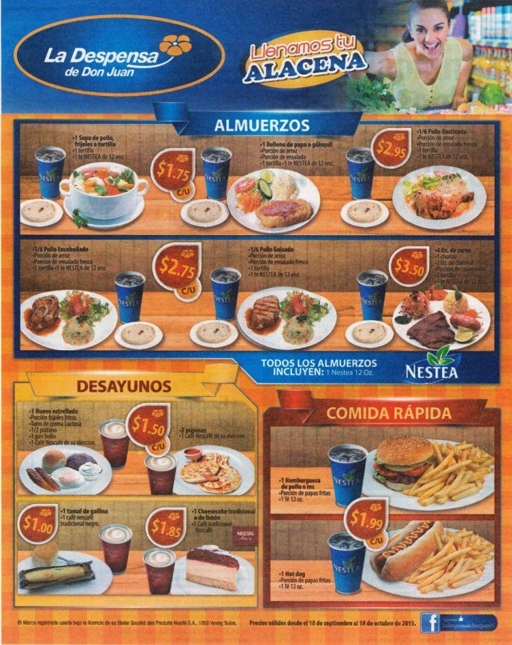 Desayunos Almuerzos COMIDA RAPIDA deliciosa en la Despensa de Don Juan