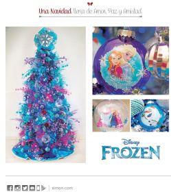 FROZEN decoracion de navidad disponible en SIMAN