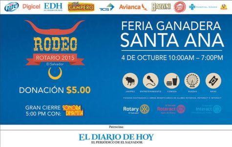 Feria GANADERA y RODEO Rotario 2015 santa ana