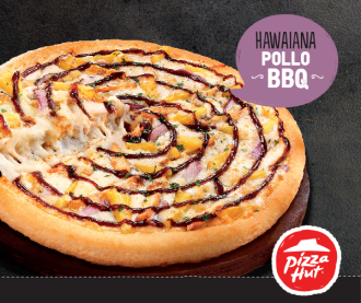 HAWAIANA POLLO BBQ nueva pizza hut