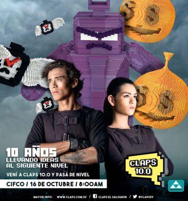 IDEAS de publicidad 10 anios via CLAPS el salvador 2015