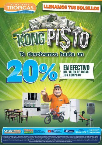 Llena tus bolsillos KONG PINTOS promocion almacenes tropigas - 28sep15