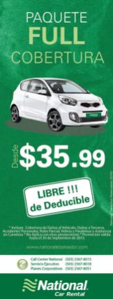 NATIONAL car rental PROMOTIONS full package
