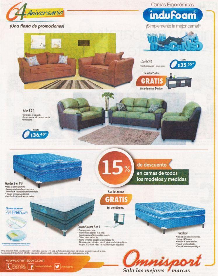OMNISPORT tiene descuentos para ti en salas y camas - 25sep15