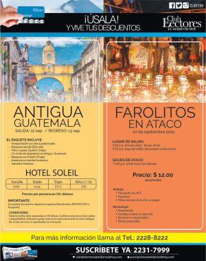 Paquete para viajes a GUATEMALA tour antigua