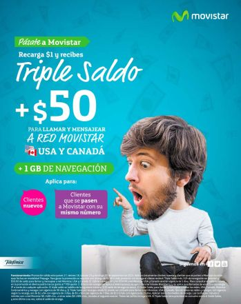 Pasate a MOVISTAR con triple saldo y mas beneficios