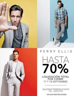 Perry Ellis store gentleman 70 OFF discounts