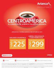 Precios bajos en tus BOLETOS a centroamerica via avianca - 28sep15