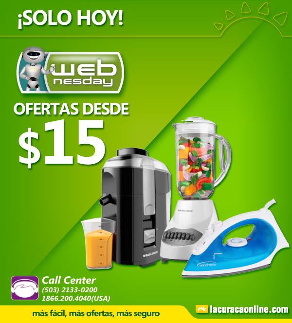 SOLO HOY WEBnesday offers desde 15 doalres en LA CURACAO - 23sep15