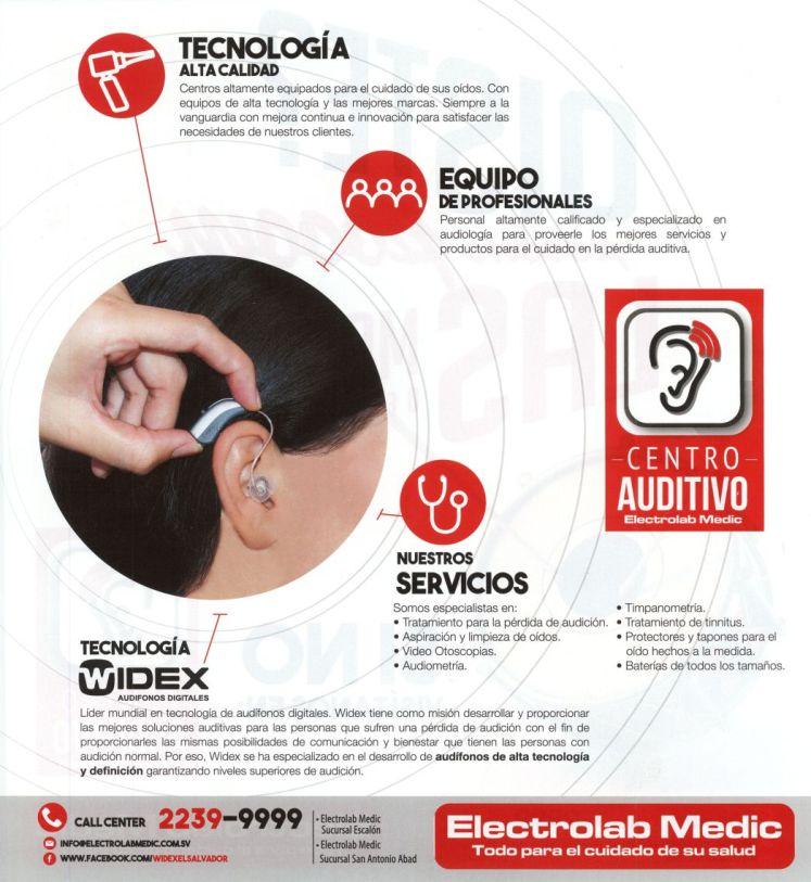 Servicios y tratamientos auditivos aspiracion limpieza video otoscopias audiometrias