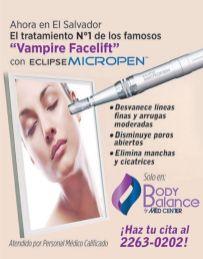 Vampire facelift ECIPSE micropen BODY BALANCE med center
