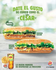new CAESAR BURGER chiken tender grill by Burger King