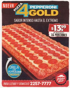 new PIZZA 4 pepperoni GOLD sabor intenso hasta el extremo