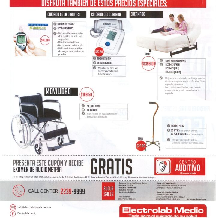 special prices DIABETES products glucometro tensiometro silla de ruedas