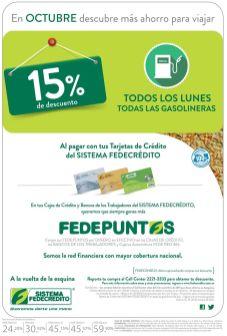Ahorra 15 OFF todos los lunes de octubre al llenar combustible