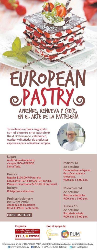 Aprende el arte de pasteleria EUROPEAN PASTRY